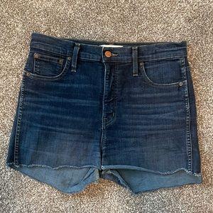"Madewell 10"" high-rise skinny cut off jean shorts"